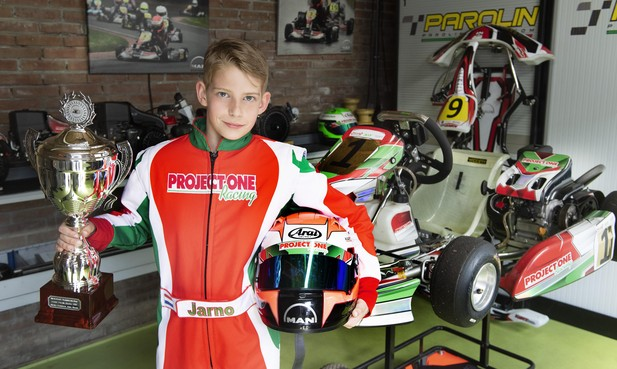 Jarno (10) kart iedereen voorbij bij het Nederlands Kampioenschap