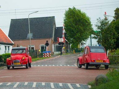 Twee rode Eendjes vlak om de hoek bij Hotel de Purmer Eend....