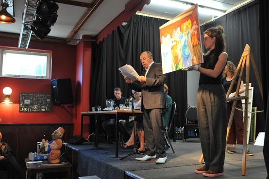 Schilderijenveiling van kunstevenement Ezel en Kwasten in Wijk aan Zee: 1000 euro