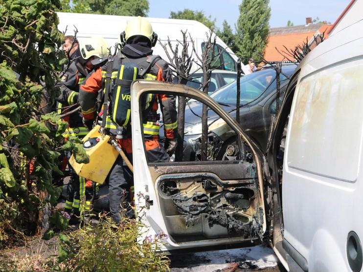 Brand op terrein van camping Oase in Warmond