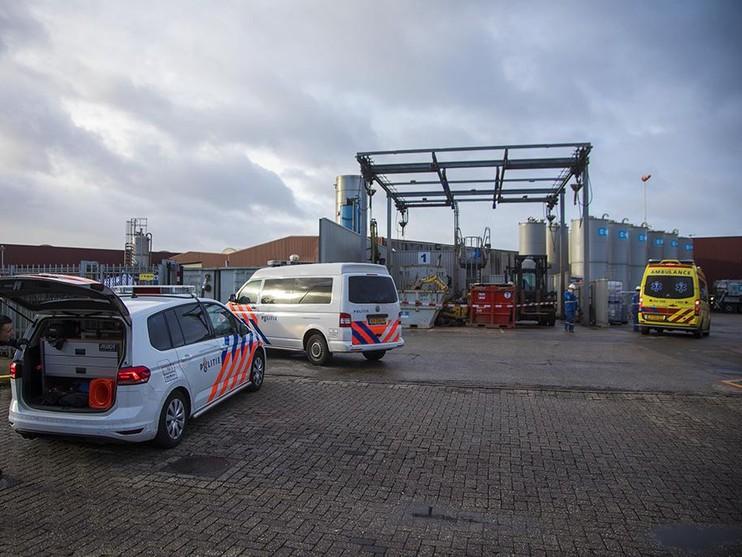 Man gewond bij bedrijfsongeval in Beverwijk