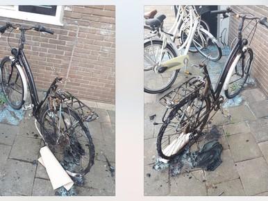 Onderzoek naar in brand gestoken fiets Katwijk