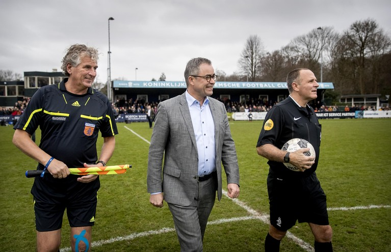 Spectaculair gelijkspel Koninklijke HFC en oud-internationals