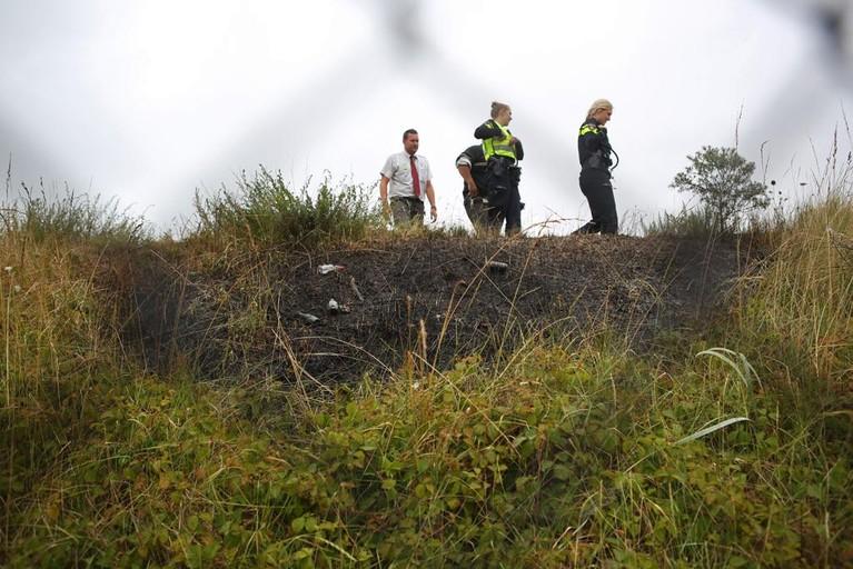 Stuk duin in brand in Zandvoort