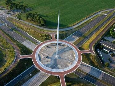 Fietsersbond en Actiepartij willen 'zwevende rotonde' boven druk kruispunt in Haarlem [video]