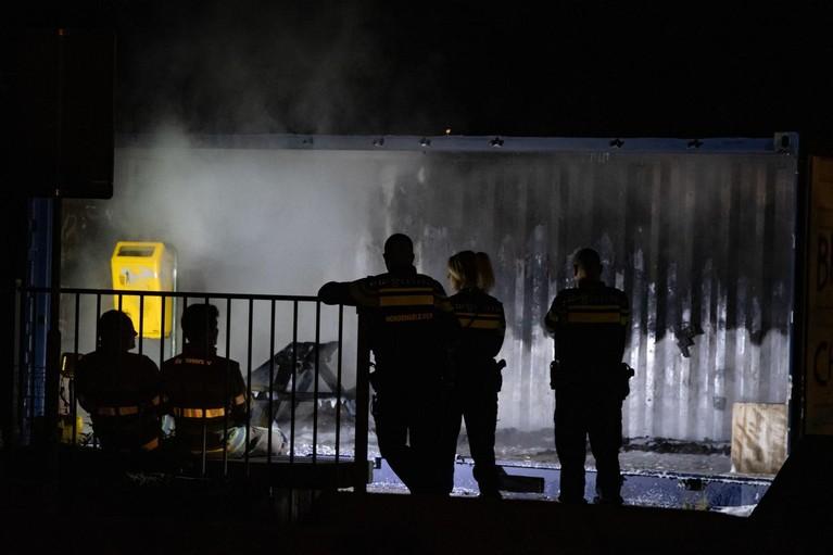Brand verwoest kantine van volkstuinvereniging in Hilversum
