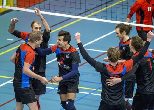 De verenigingstoeter van Volleybal Combinatie Spaarnestad Haarlem is foetsie