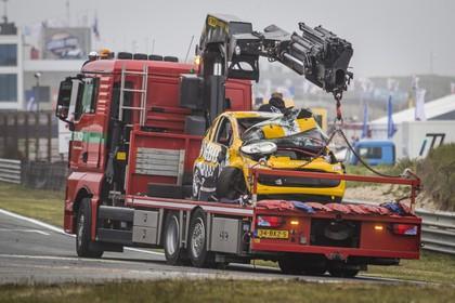 Romy Monteiro na crash op circuit Zandvoort: 'Ik ben er goed vanaf gekomen'