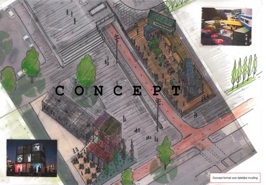 Hilversum wil reuring op tijdelijk Stationsplein met fietsenstalling, 'creatief bedrijvig dorpje' en kortstondige evenementen