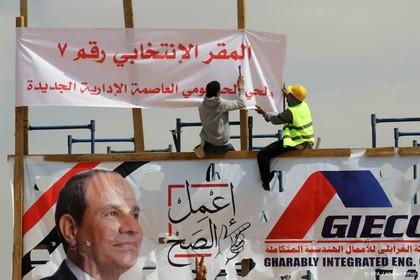 Kiezers Egypte steunen aanblijven al-Sisi