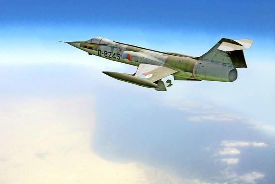 F-104 Starfighter te zien bij 'Zomeroffensief Soesterberg' bij het NMM