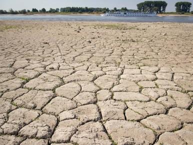 Rijn bij Lobith op laagste stand ooit