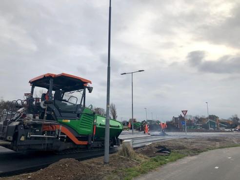 Nieuwe rotonde Langevliet Julianadorp zondag open
