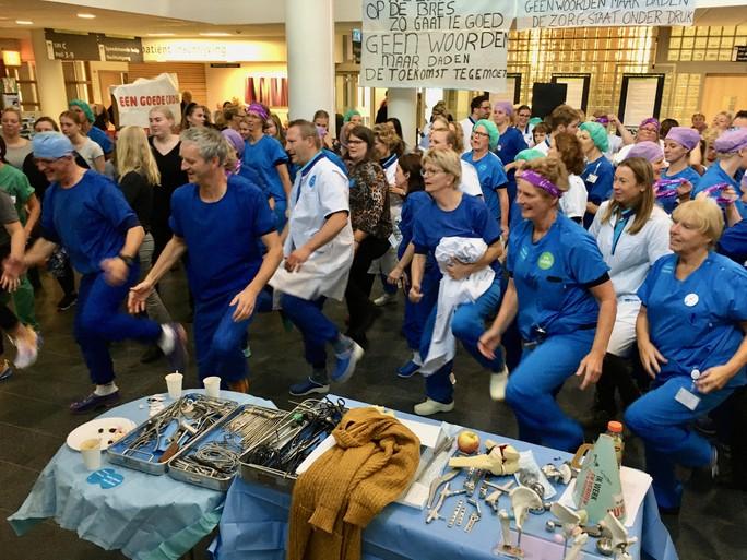 Ritmegevoel in Dijklander Ziekenhuis Hoorn voor betere cao [video]