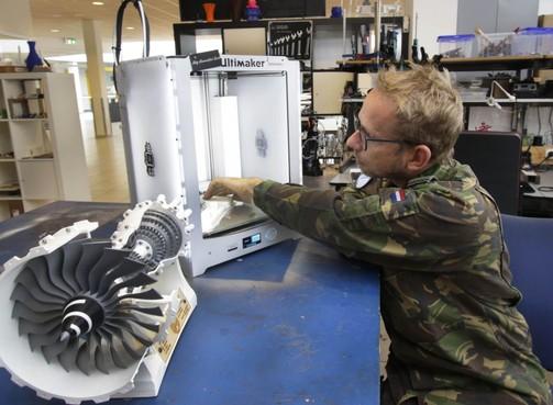 Onderdelen straaljager komen uit 3D-printer