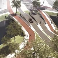 De nieuwe Valkbrug, of eigenlijk vier Valkbruggen.