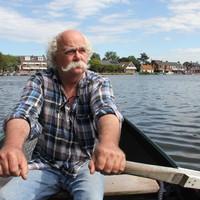 Jan Blok op weg naar Buitenkaag.