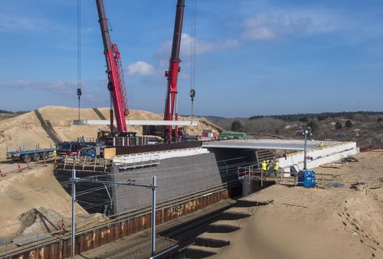 Natuurbrug over spoor Zandvoort zaterdag open