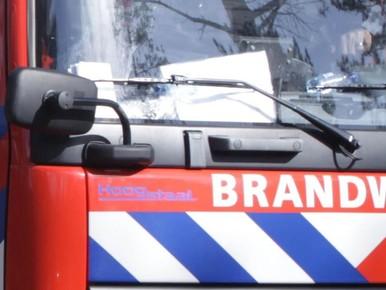 Brandje aan houten gevel in Heemskerk