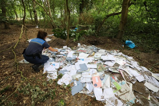 Sandd heeft dader van enorme postdump Laren op de korrel