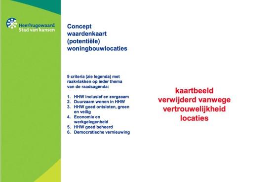 'Schatkaart' met geheime nieuwe bouwlocaties in Heerhugowaard