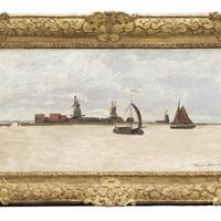 Claude Monet: Schilderij van de Voorzaan en de Westerhem.