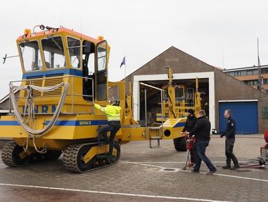 Aankomst in Noordwijk.
