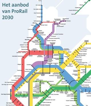 Ruwe schets dienstregeling treinen in 2030: meer treinen mogelijk naar kop Noord-Holland, Haarlem, Hilversum en Leiden
