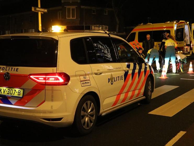 Fietsster hard ten val in Leiden