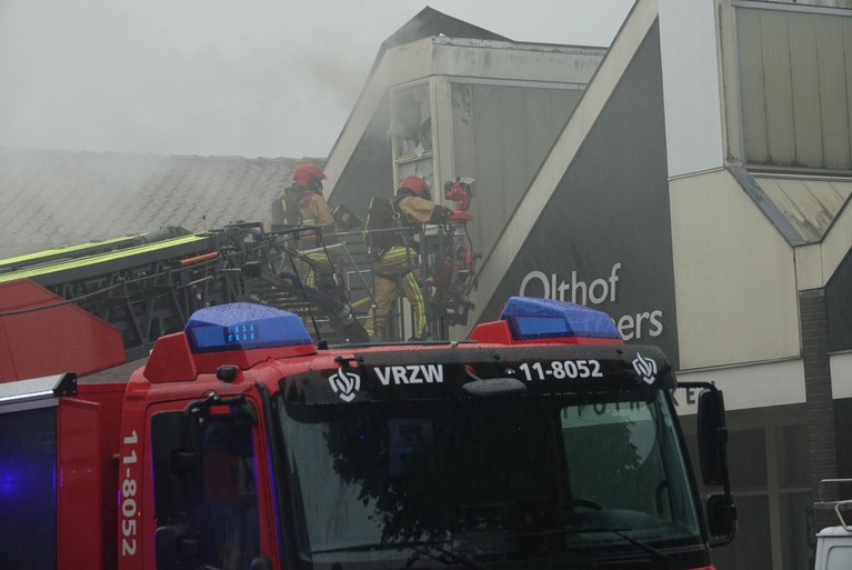 Brand bij verzekeringskantoor in Koog aan de Zaan