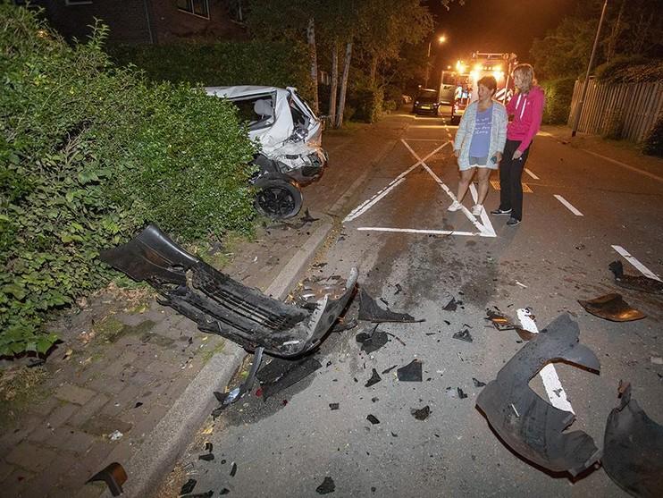 Grote ravage na ongeluk in Beverwijk