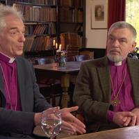 Bisschop Dirk Jan Schoon en aartsbisschop van Utrecht Joris Vercammen