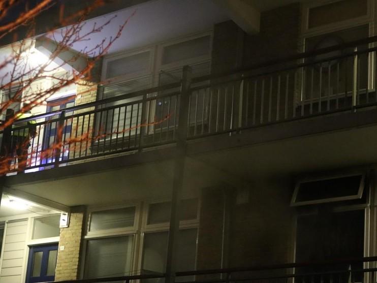 Brand in woning Gladiolenstraat in Sassenheim