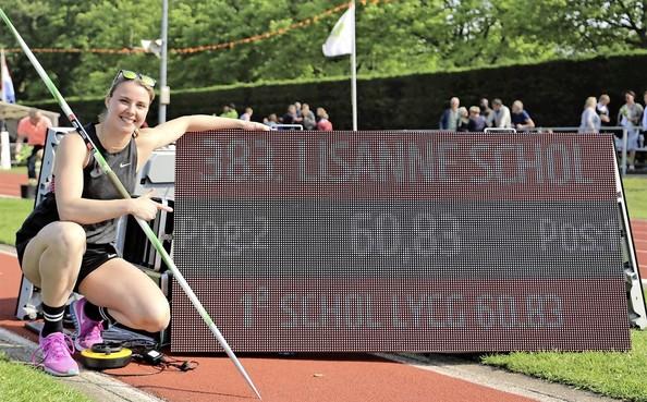 Speerwerpster Lisanne Schol ziet wens in vervulling gaan met Nederlands record in Lisse