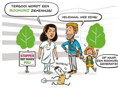 Ook e-sigaret in de ban bij algeheel rookverbod ziekenhuis Hilversum
