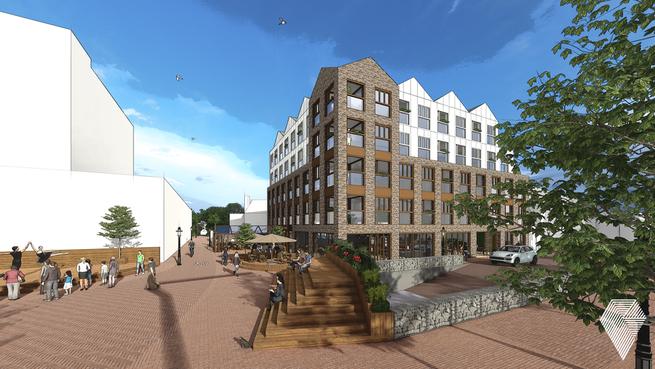 Voormalig UWV-kantoor Alkmaar wordt straks wooncomplex: 'Paardenmarkt krijgt met bouwplan Het Bronzen Paard een nieuw gezicht'
