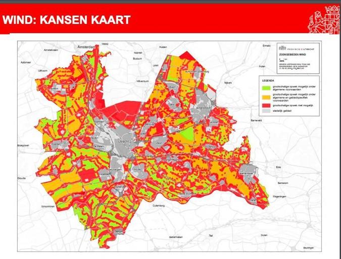 Regionale Energie Strategie: Mega-molens langs de A1 bij Eemnes?