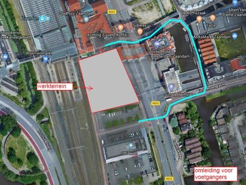 Stationsgebied bij Korte Hogendijk Zaandam dicht voor verkeer
