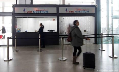 Stakingen op luchthaven Madrid