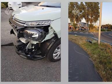 Drankrijder crasht op twee rotondes Nieuwkoop