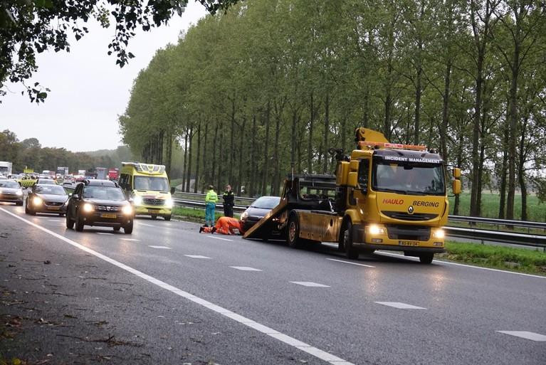 Files op A7 Den Oever-Zaandam door ongelukken