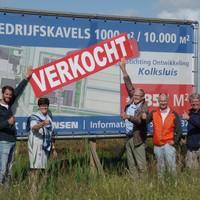 Blijdschap bij de leden van Stichting Ontwikkeling Kolksluis.