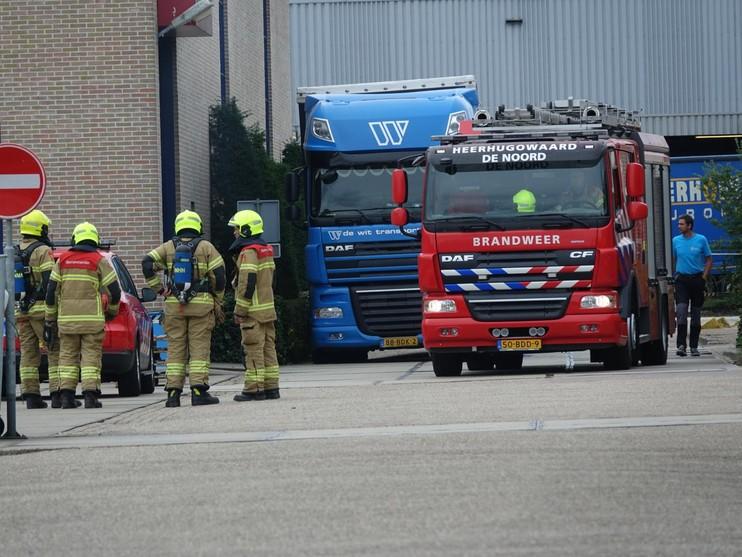 Bedrijf in Heerhugowaard ontruimd vanwege brand