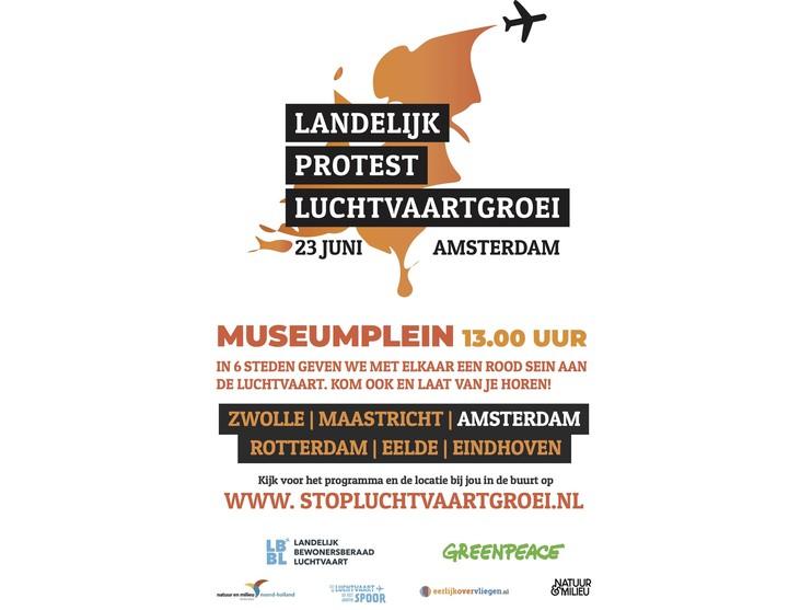Demonstratie tegen Schiphol niet op luchthaven zelf