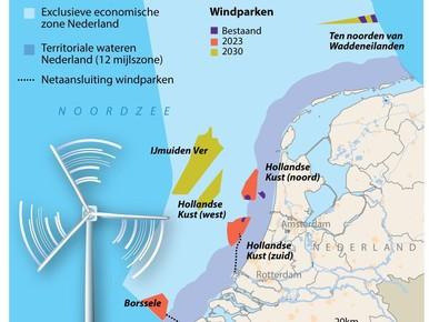 'Stormachtige groei van wind op zee'
