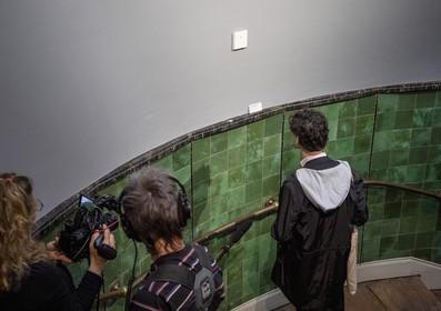 Vernieuwd nagelschilderijtje voor een dagje terug in Frans Hals Museum Haarlem, was per ongeluk overgeschilderd