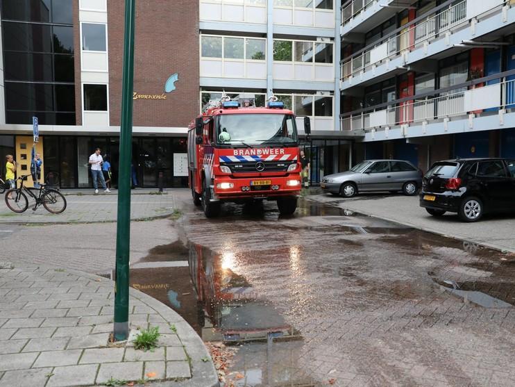 Gesprongen waterleiding in flatgebouw Soest