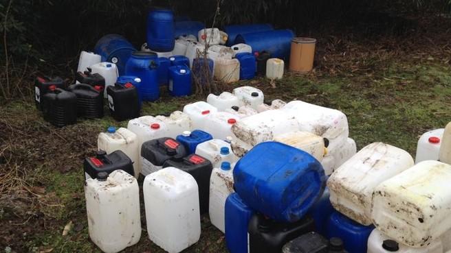 Massale dump van drugsafval in bossen Lage Vuursche
