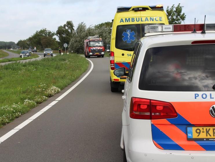 Auto van de weg 'door black-out' in Weesp