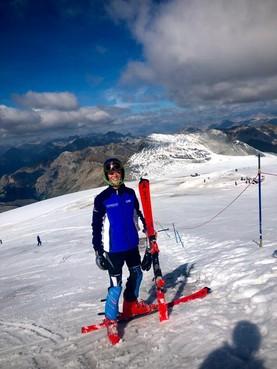 Italiaanse sneeuw helpt Heemskerker Lars Steenstra aan Nederlandse titel skiën